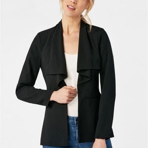 NWT Just Fab drape collar black blazer size M